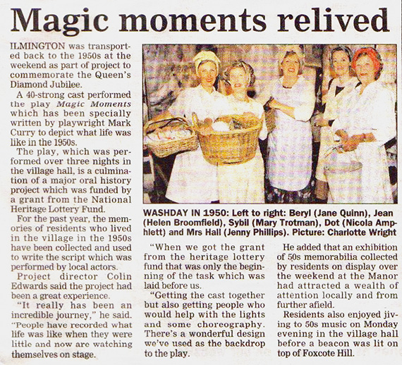 Magic Moment Relived - The Costsworl Journal